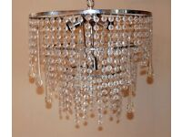 Glass chandelier - 4 light glass droplet ceiling mount