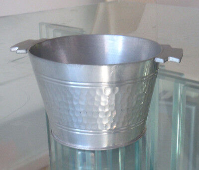 MALAYAN PEWTER ART DECO BUTTER/CREAM TUB  - ODEON HANDLES - c1930 ^