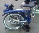 2 x Brompton folding bicycles for sale