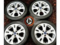 """17"""" Genuine Ford alloys 5x108 good cond good tyres."""