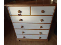 Solid handmade Country Style chest of pine drawers
