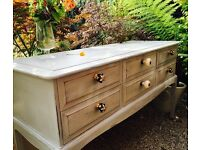 Beautiful shabby chic large sideboard - with stunning new handles