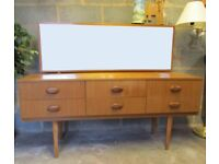 G PLAN retro style dressing table side board 6 drawers storage furniture DELIVERY WITHIN LE3