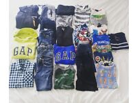 Large bundle of boys clothes (27 items) aged 6-7 includes Gap, Next, Ripcurl