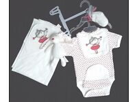 Baby girl gift set by first wish new