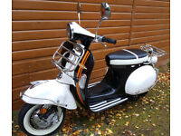AJS MODENA 125cc SCOOTER, 50 S CLASSIC RETRO STYLE, As NEW, SHOWROOM CONDITION