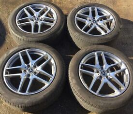 "19"" Genuine GLC AMG Alloy Wheels & Tyres 235/55R19 5x112 Fits GLE GLA VITO VIANO E S CLASS"