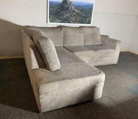 Delivery Available ~ Grey Corner Sofa