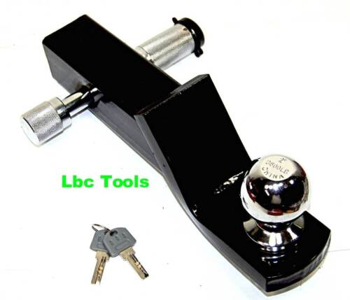 "2""Drop Hitch for 2"" receiver trailer ball mount & 1-7/8"" hitch ball & hitch lock"