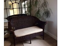 Marks and Spencer wicker sofa 2 seater ideal for conservatory or kitchen