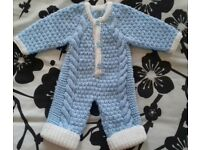 BRAND NEW HAND MADE BABY ARAN ALL IN ONE