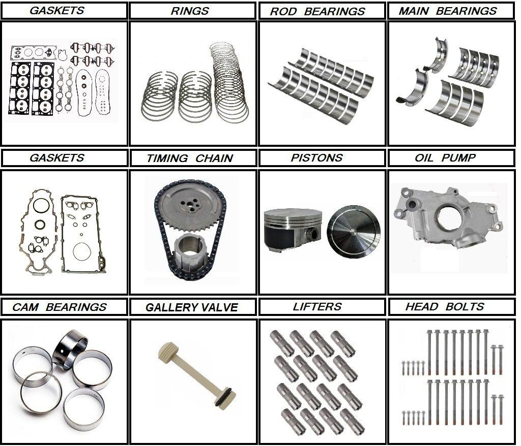 01 03 Chevrolet GM 60 Engine rebuild kit lifters head bolts – Lq4 6.0 Engine Diagram