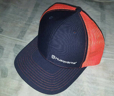 HUSQVARNA®  logo dark blue/orange hat/baseball cap NEW! - Orange Baseball Hat