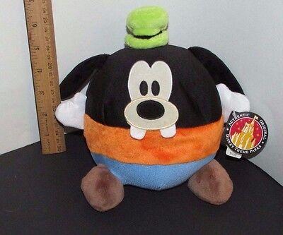 "Walt Disney Land World  Parks Microbead ball Goofy Plush 7"" high w/ tag"
