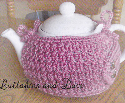 Crochet Pattern ~ CABLED TEAPOT COZY ~ Instructions