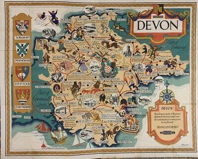 "DevonOriginal vintage travel advertising poster 1950""s"