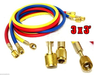 60 5ft Hvac 14 Sae 500 Psi Charging Hoses Ac Refrigerant R410a R134a J2196