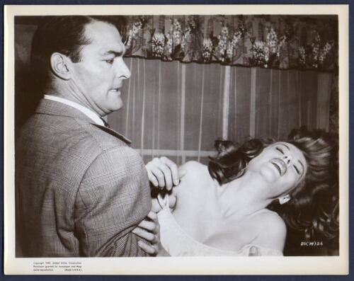 JOHN RUSSELL & JUNE BLAIR fight scene HELL BOUND 1957 Orig Photo CRIME DRAMA