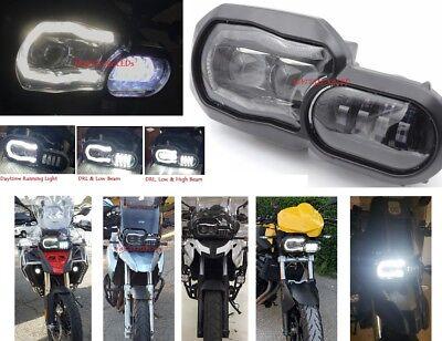 LED Headlight Angel Eyes - BMW F650GS F700GS F800GS Led Headlights. USA shipping