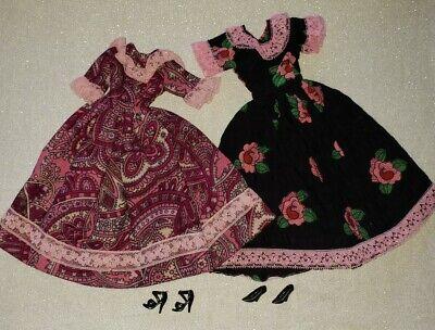 Vintage Clone 70s 80s Barbie Peasant Dresses Floral Paisley Lot