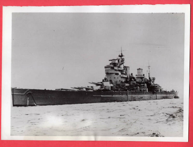 1941 British Battleship HMS King George V Original News Photo