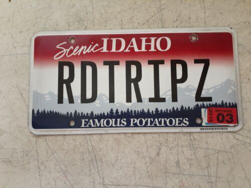 2015 Personalized  License Plate, Idaho RD TRIP Z   From Z3 BMW Road Trip Z