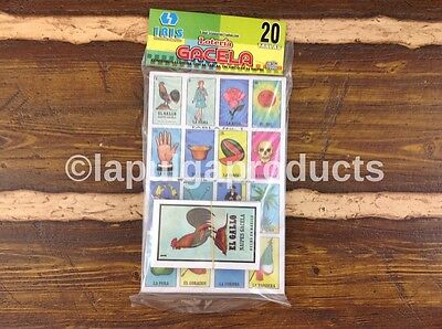 Loteria Mexicana Traditional 20 Boards and 54 Cards NEW Bingo FREE SHIPPING