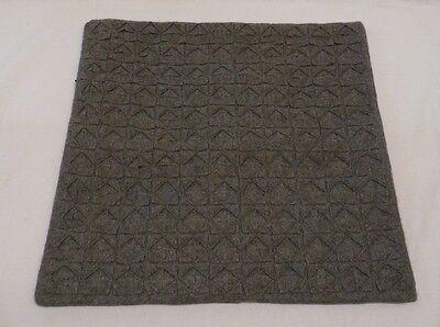 1 West Elm Slate Origami Felt Diamond Pillow Cover 18