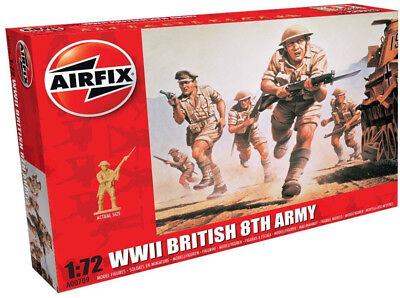 Airfix 48 WWII British 8th Army 1:72 Scale Plastic Model Figures A00709
