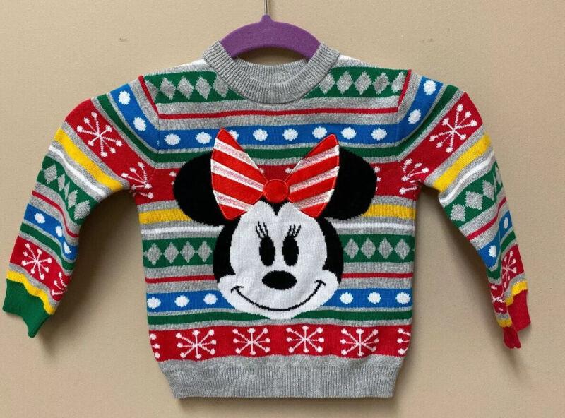 Disney Christmas Sweater Size 2 Minnie Festive