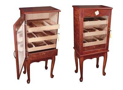 THE Belmont Freestanding Cabinet Cigar Humidor