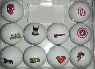 3 Dozen (Assorted Super Hero 10 Logos) Titleist Pro V1/V1x MINT Golf Balls