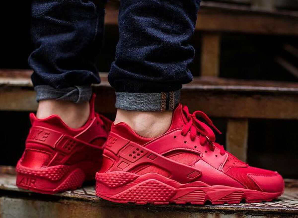 Details about NEW Mens Nike Air Huarache Running Shoe Varsity Red Triple  Red 318429-660 Multi