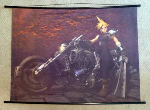 Rare Final Fantasy VII Wall Scroll Fabric Poster - Cloud Strife on Hardy Daytona