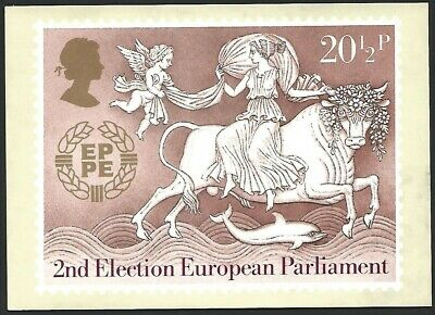 Great Britain 1984 2nd Election European Parliament Stamp Card Unused