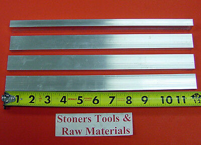 4 Pieces 38 X 34 Aluminum 6061 Flat Bar 12 Long T6511 .375 New Mill Stock