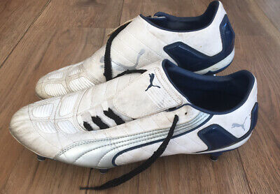 Puma Mens White Football Boots Size 11