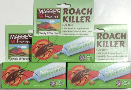 (3 Pack) Maggies Farm Roach Killer Gel Bait 1 oz Tubes - Kills Queen & Colony