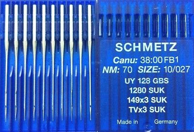 SCHMETZ TVXSUK UY128GBS NM70 S10/027 COVERSEAM INDUSTRIAL SEWING MACHINE NEEDLE for sale  Shipping to Nigeria