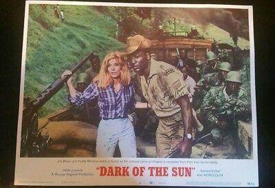 "RARE SIGNED VINTAGE LOBBY CARD 14X11 ""Dark of the sun """