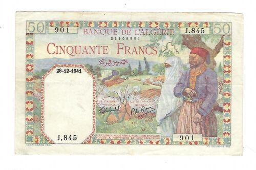 Algeria - 50 Francs 1941