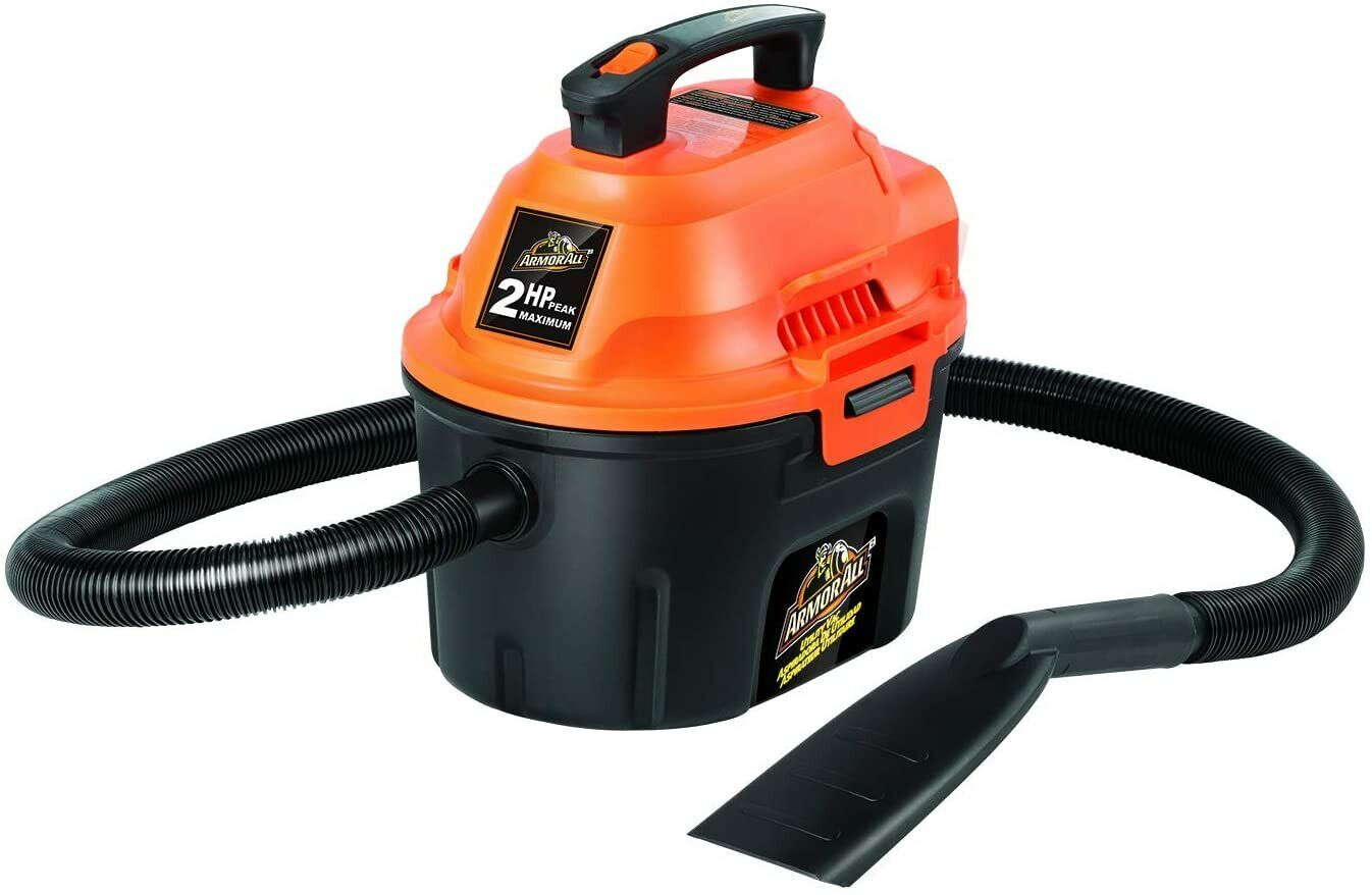 New Armor All 2.5 Gallon 2 Peak HP Utility Wet/Dry Vacuum AA