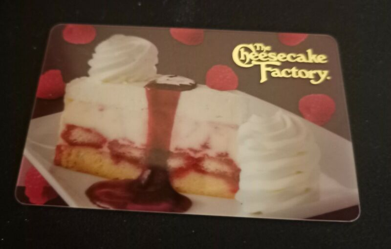 THE CHEESECAKE FACTORY Celebrate 2019 Gift Card, SAUCE, Collectible, Mint, PVC
