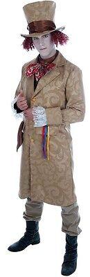 Herren Reich Dickensian Verrückter Hutmacher Alice Im Wunderland Kostüm - Herren Dickensian Kostüm