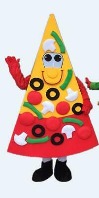 Advertising Food Pizza HAMBURGER Mascot Costume Carnival Adult Restaurant Dress