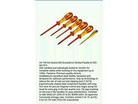 T49183 C.K DextroVDE Screwdriver Slotted Parallel & PZD Set Of 6