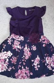 Girls purple blue & pink dress size 2-3 yrs