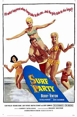 Surf Party Movie (SURF PARTY Movie POSTER 11x17 Bobby Vinton Jackie De Shannon Patricia)