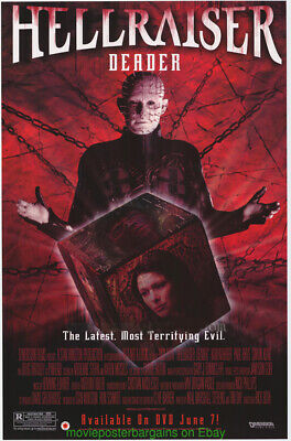 4 CLIVE BARKER MOVIE POSTER 's All MINT Original 27x40 One Sheets HELLRAISER