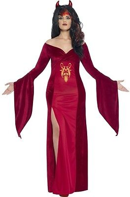 Ladies Plus Size Red Devil Vampire Halloween Fancy Dress Costume Outfit UK 16-30